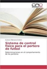 Capa do livro sistema de control fisico para el portero de futbol