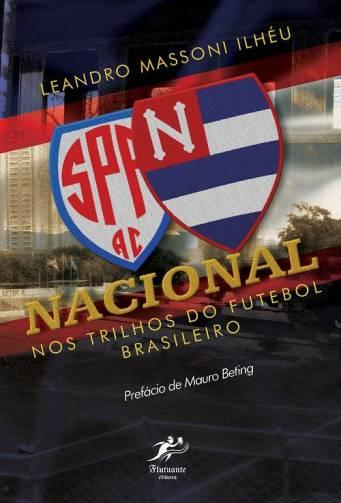 Capa do livro Nacional nos trilhos do futebol brasileiro