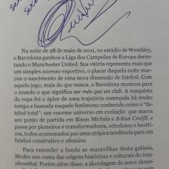 Autógrafo do Professor René Simões.
