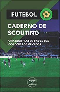 capa do livro futebol caderno de scouting para registrar os dados dos jogadores observados