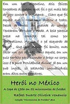 capa do livro heroi no mexico a copa de 1986 em 52 microcontos de futebol