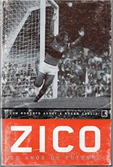 capa do livro zico 50 anos de futebol