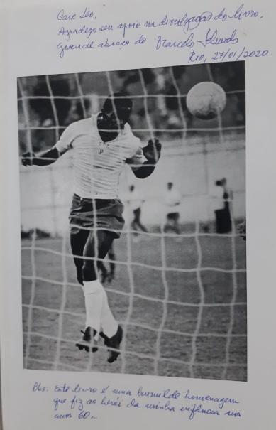 autografo marcelo schwob livro silva o batuta o craque e o futebol de seu tempo