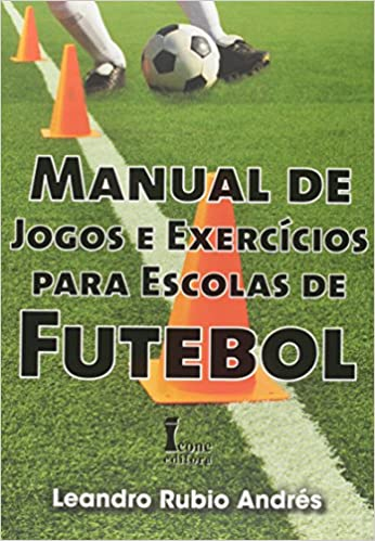 capa do livro manual de jogos e exercicios para escolas de futebol
