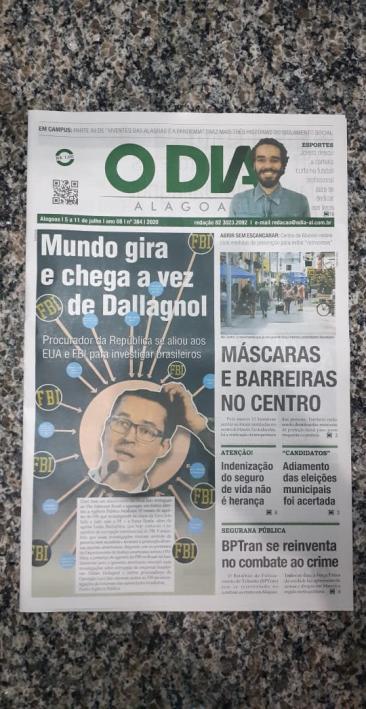 capa do jornal o dia alagoas entrevista literatura e futebol leo lyra 1