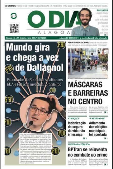 capa do jornal o dia alagoas entrevista literatura e futebol leo lyra