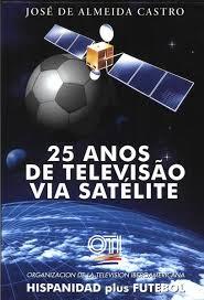 capa do livro 25 anos de televisao via satelite