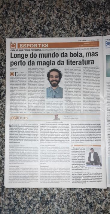 materia jornal o dia alagoas literatura e futebol leo lyra 1