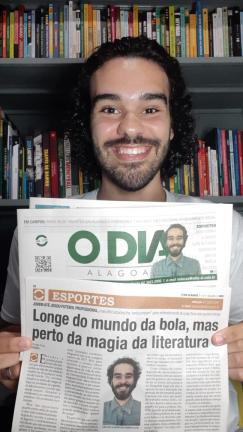 materias jornal o dia alagoas entrevista literatura e futebol leo lyra