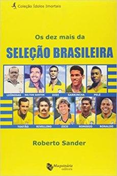 capa do livro os dez mais da selecao brasileira