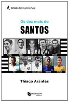 capa do livro os dez mais do santos