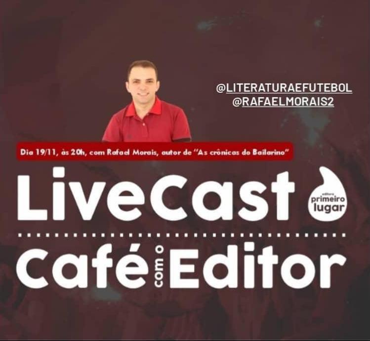 livecast cafe com o editor podcast literatura e futebol leo lyra